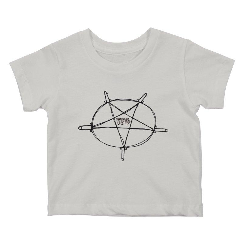 TFG Penis Pentagram Kids Baby T-Shirt by TotallyFuckingGay's Artist Shop