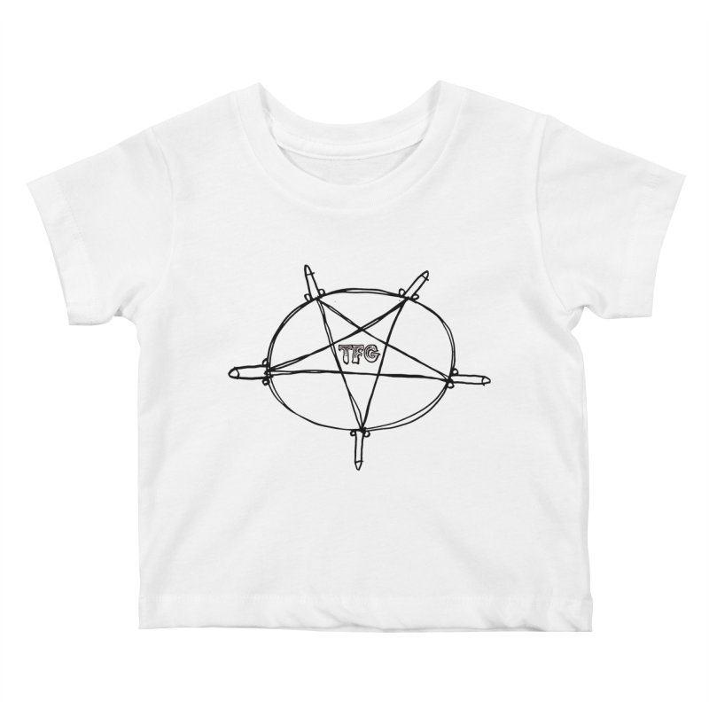TFG Penis Pentagram Kids Baby T-Shirt by TotallyFuckingGay's Artist Shop