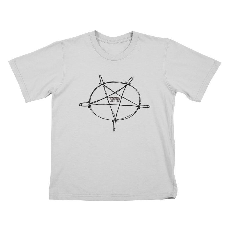 TFG Penis Pentagram Kids T-Shirt by TotallyFuckingGay's Artist Shop