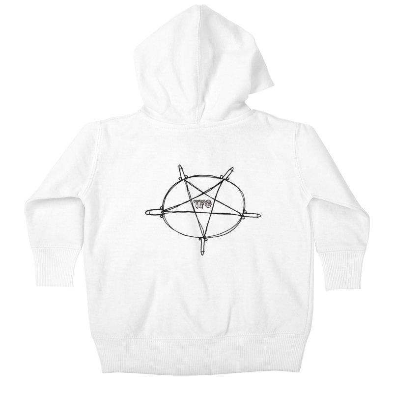 TFG Penis Pentagram Kids Baby Zip-Up Hoody by TotallyFuckingGay's Artist Shop