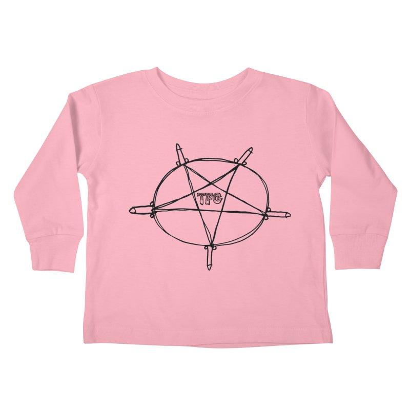 TFG Penis Pentagram Kids Toddler Longsleeve T-Shirt by TotallyFuckingGay's Artist Shop