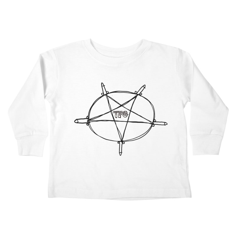 TFG Penis Pentagram Kids Toddler Longsleeve T-Shirt by TotallyFuckingGay's Artist Shop