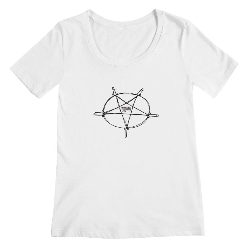 TFG Penis Pentagram Women's Scoopneck by TotallyFuckingGay's Artist Shop