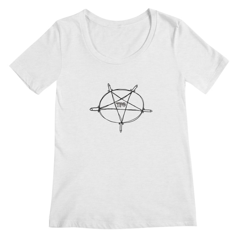 TFG Penis Pentagram Women's Regular Scoop Neck by TotallyFuckingGay's Artist Shop