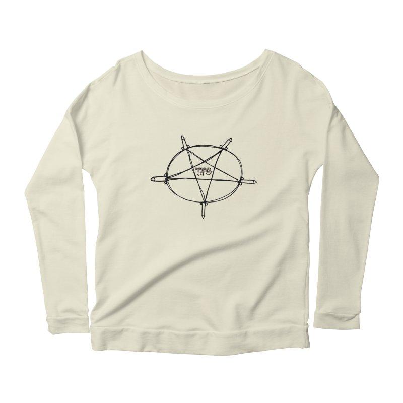 TFG Penis Pentagram Women's Scoop Neck Longsleeve T-Shirt by TotallyFuckingGay's Artist Shop