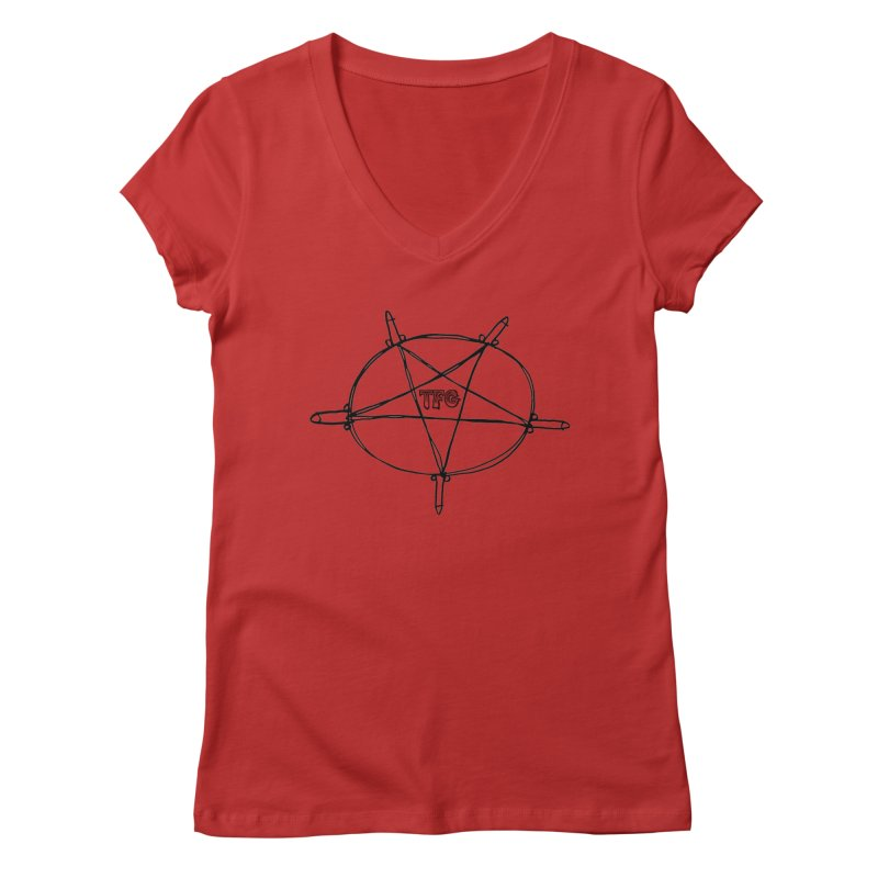 TFG Penis Pentagram Women's V-Neck by TotallyFuckingGay's Artist Shop