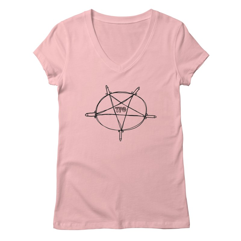 TFG Penis Pentagram Women's Regular V-Neck by TotallyFuckingGay's Artist Shop