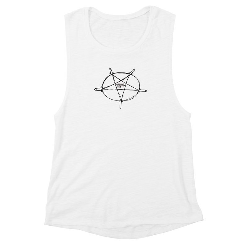 TFG Penis Pentagram Women's Muscle Tank by TotallyFuckingGay's Artist Shop
