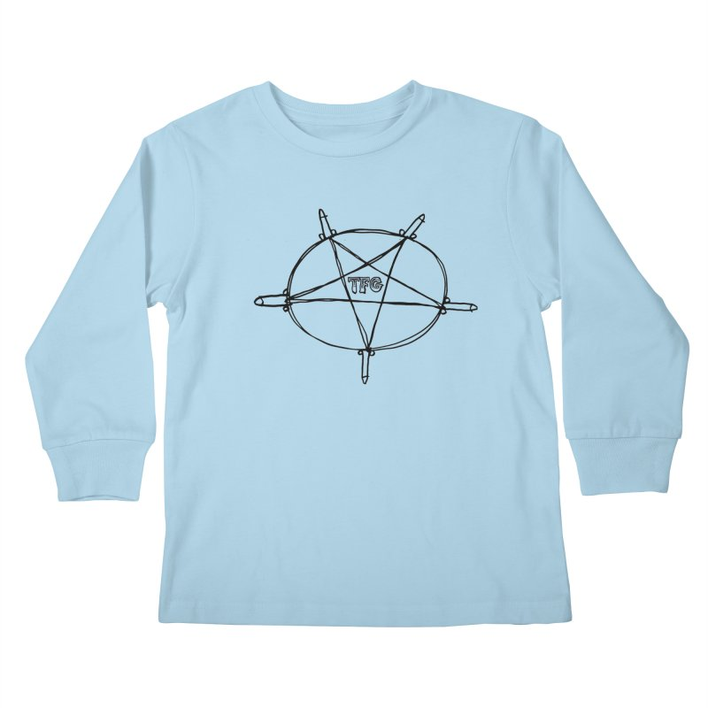 TFG Penis Pentagram Kids Longsleeve T-Shirt by TotallyFuckingGay's Artist Shop
