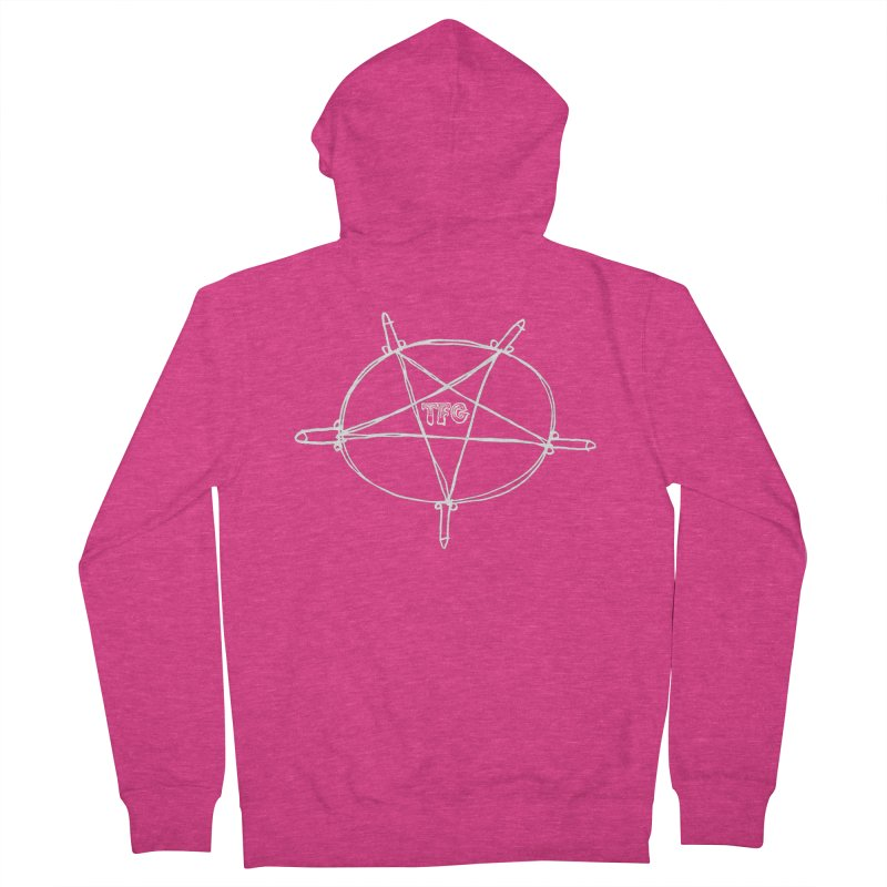 TFG Penis Pentagram White Women's Zip-Up Hoody by TotallyFuckingGay's Artist Shop