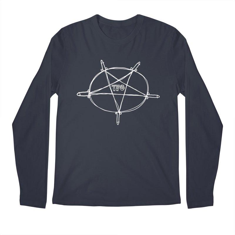 TFG Penis Pentagram White Men's Longsleeve T-Shirt by TotallyFuckingGay's Artist Shop