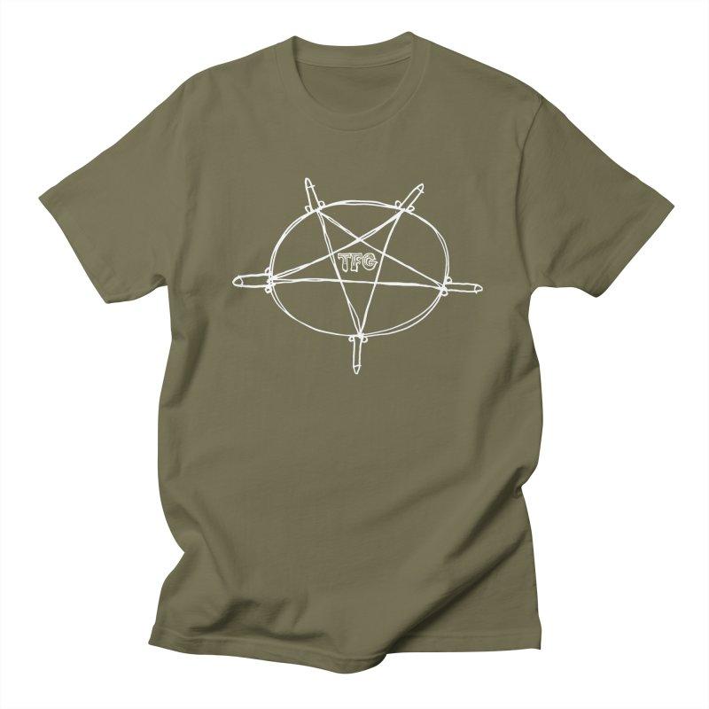 TFG Penis Pentagram White Men's Regular T-Shirt by TotallyFuckingGay's Artist Shop