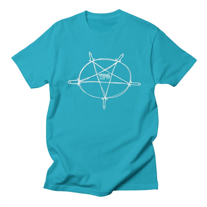 TFG Penis Pentagram White Men's T-Shirt by TotallyFuckingGay's Artist Shop