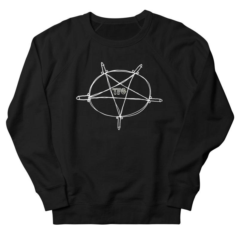 TFG Penis Pentagram White Women's French Terry Sweatshirt by TotallyFuckingGay's Artist Shop