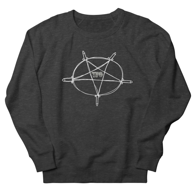 TFG Penis Pentagram White Men's French Terry Sweatshirt by TotallyFuckingGay's Artist Shop