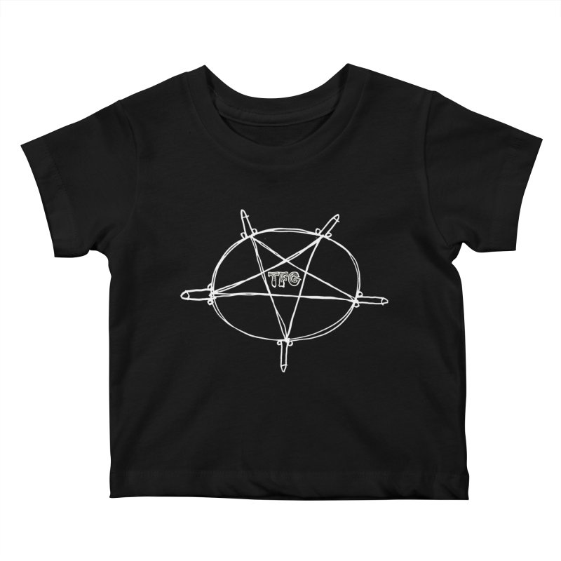 TFG Penis Pentagram White Kids Baby T-Shirt by TotallyFuckingGay's Artist Shop