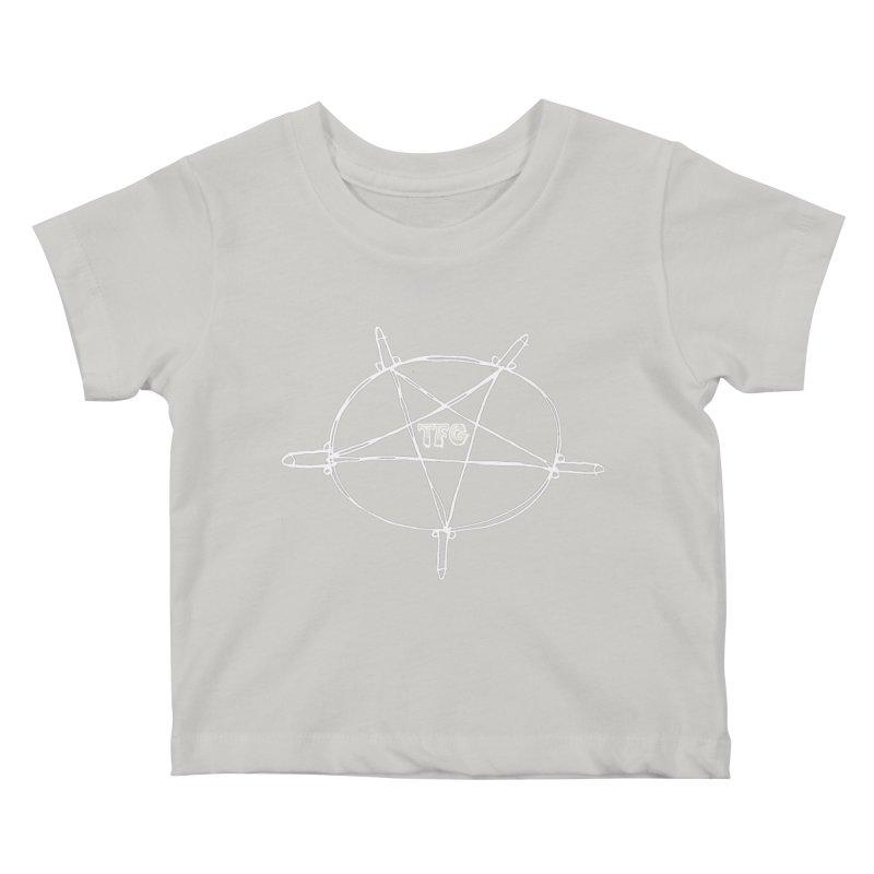 TFG Penis Pentagram White Kids Baby T-Shirt by TotallyFuckingGay's Artist Shop