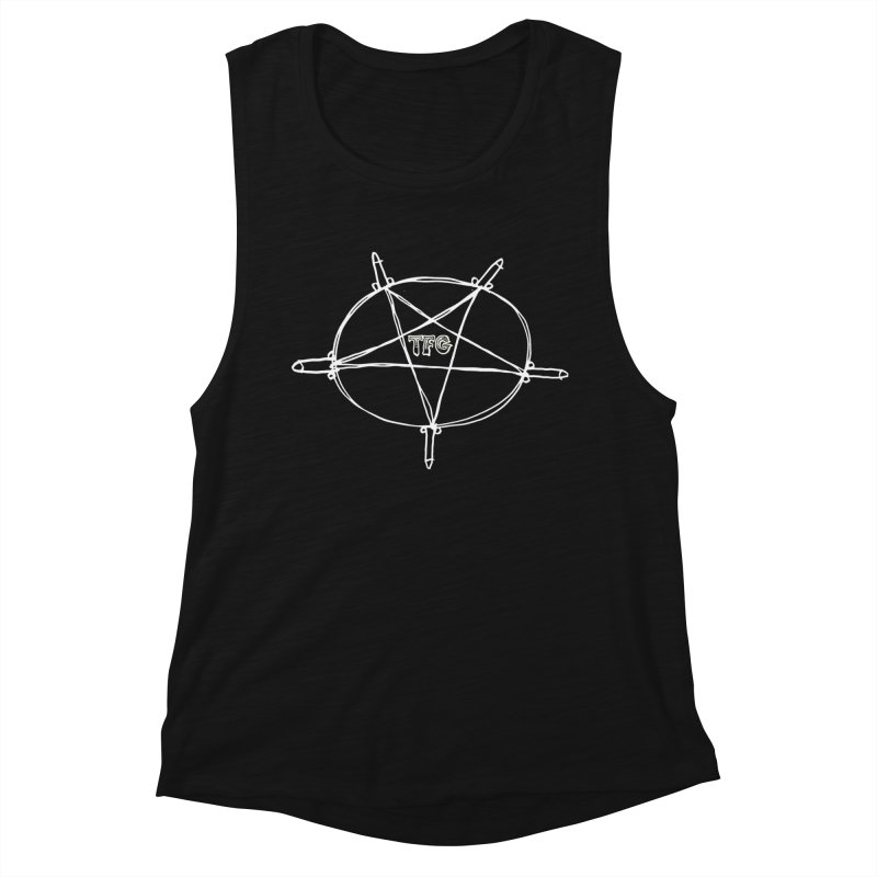 TFG Penis Pentagram White Women's Tank by TotallyFuckingGay's Artist Shop