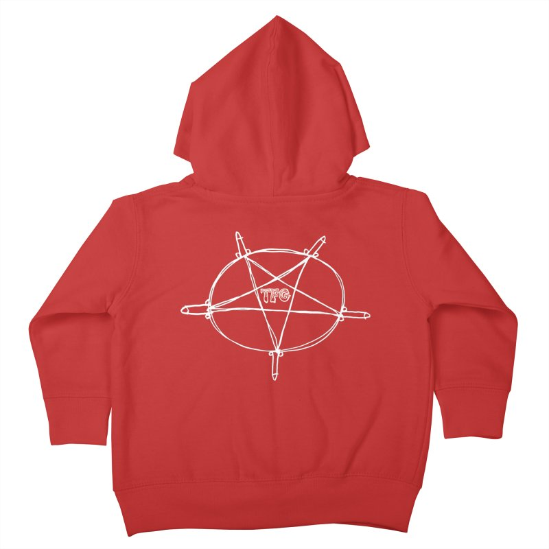 TFG Penis Pentagram White Kids Toddler Zip-Up Hoody by TotallyFuckingGay's Artist Shop