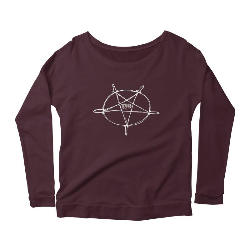 TFG Penis Pentagram White Women's Scoop Neck Longsleeve T-Shirt by TotallyFuckingGay's Artist Shop