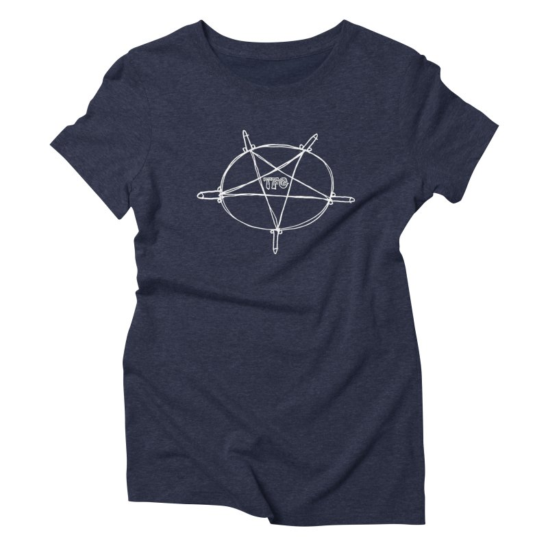 TFG Penis Pentagram White Women's T-Shirt by TotallyFuckingGay's Artist Shop