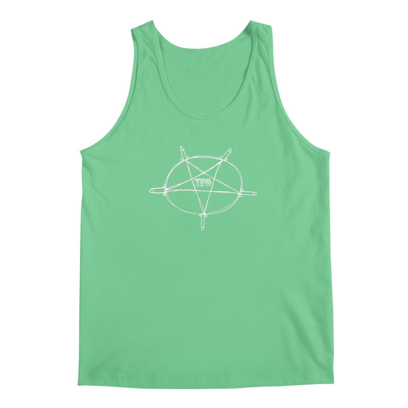 TFG Penis Pentagram White Men's Tank by TotallyFuckingGay's Artist Shop