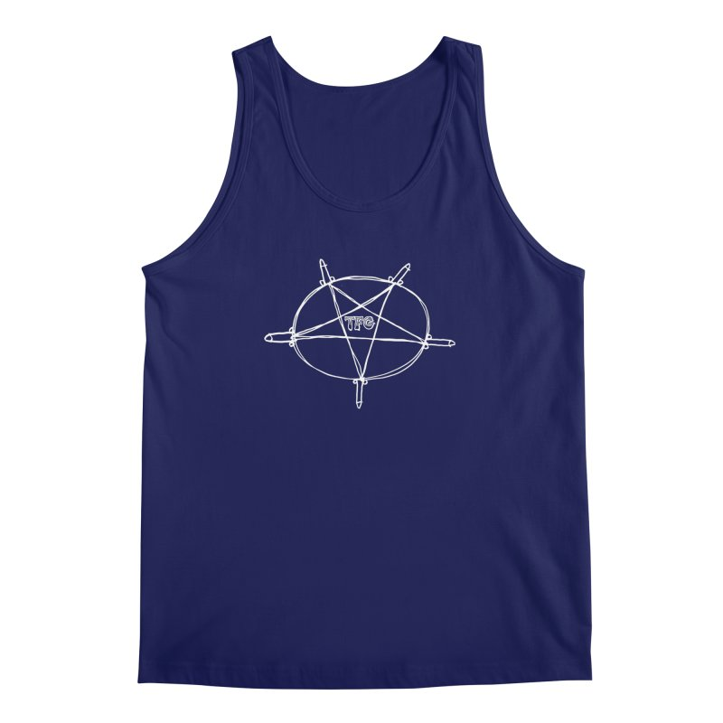 TFG Penis Pentagram White Men's Regular Tank by TotallyFuckingGay's Artist Shop