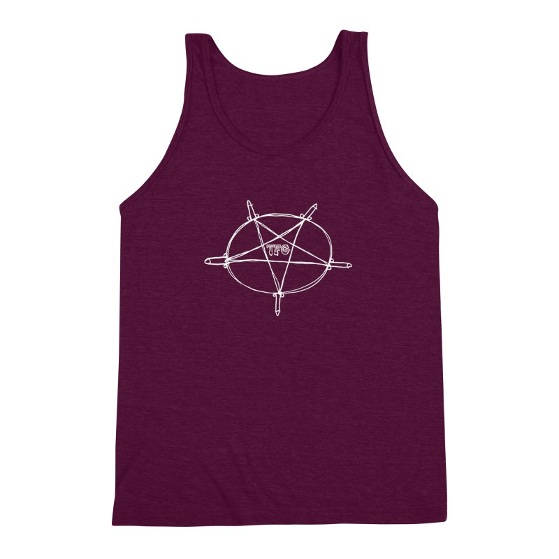 TFG Penis Pentagram White Men's Triblend Tank by TotallyFuckingGay's Artist Shop