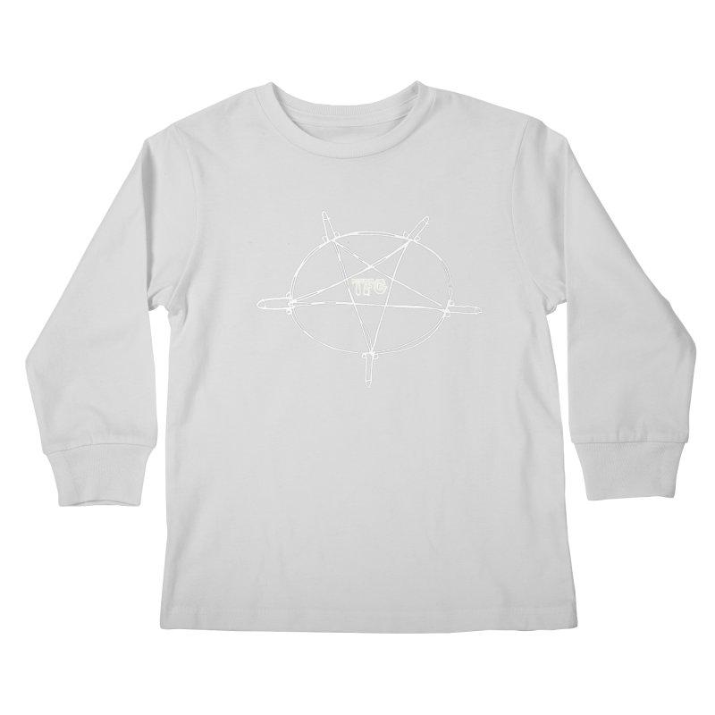 TFG Penis Pentagram White Kids Longsleeve T-Shirt by TotallyFuckingGay's Artist Shop