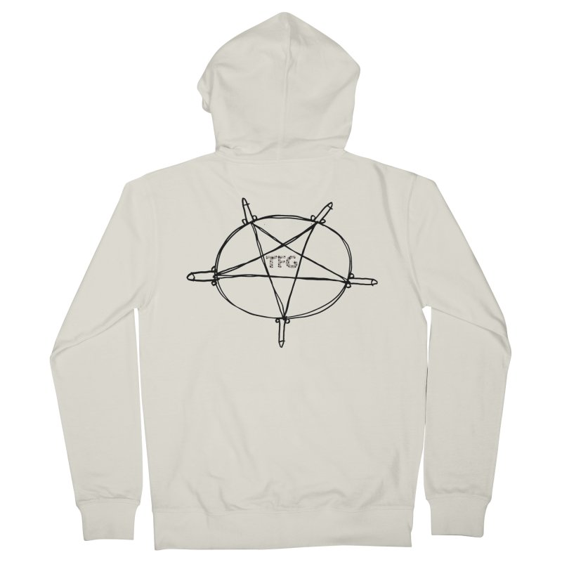 TFG Penis Pentagram 2 Men's Zip-Up Hoody by TotallyFuckingGay's Artist Shop