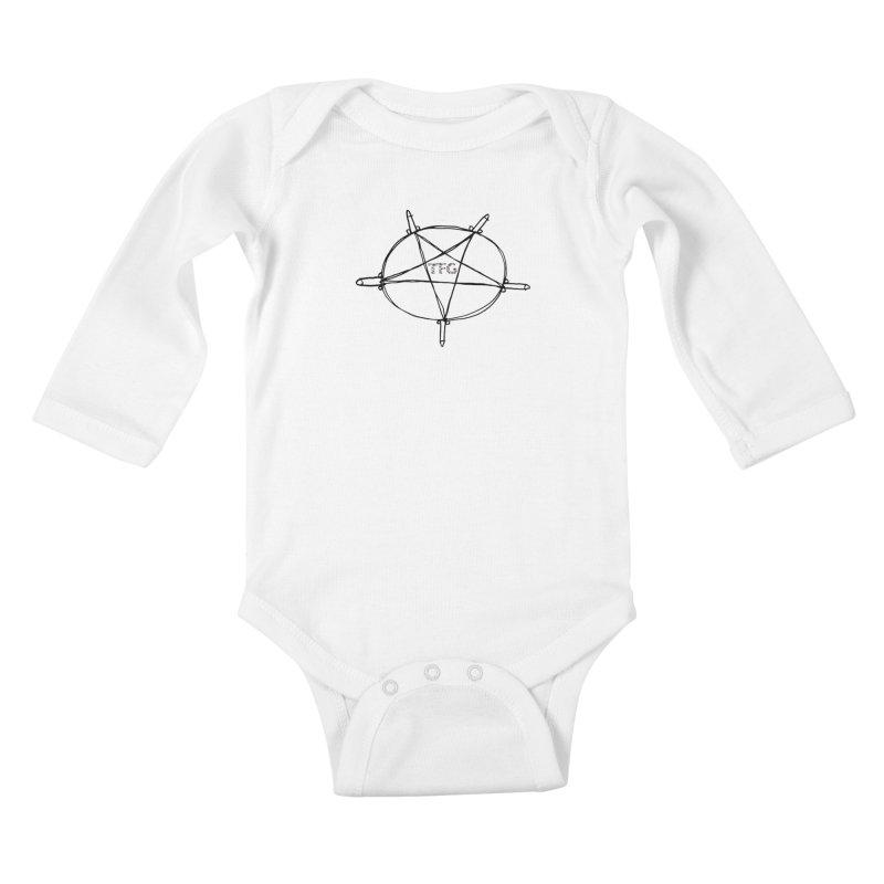 TFG Penis Pentagram 2 Kids Baby Longsleeve Bodysuit by TotallyFuckingGay's Artist Shop