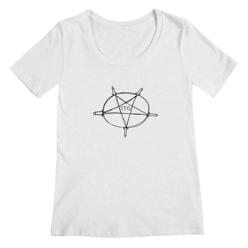 TFG Penis Pentagram 2 Women's Scoopneck by TotallyFuckingGay's Artist Shop