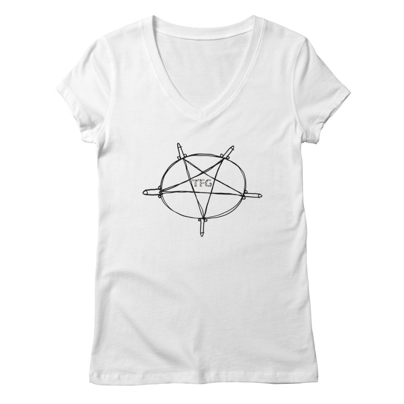 TFG Penis Pentagram 2 Women's V-Neck by TotallyFuckingGay's Artist Shop