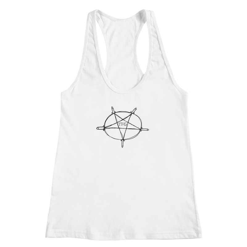 TFG Penis Pentagram 2 Women's Racerback Tank by TotallyFuckingGay's Artist Shop
