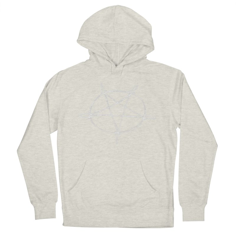 TFG Penis Pentagram White 2 Men's French Terry Pullover Hoody by TotallyFuckingGay's Artist Shop