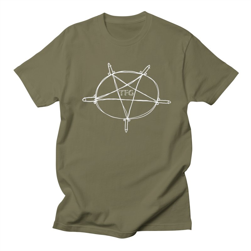 TFG Penis Pentagram White 2 Men's Regular T-Shirt by TotallyFuckingGay's Artist Shop