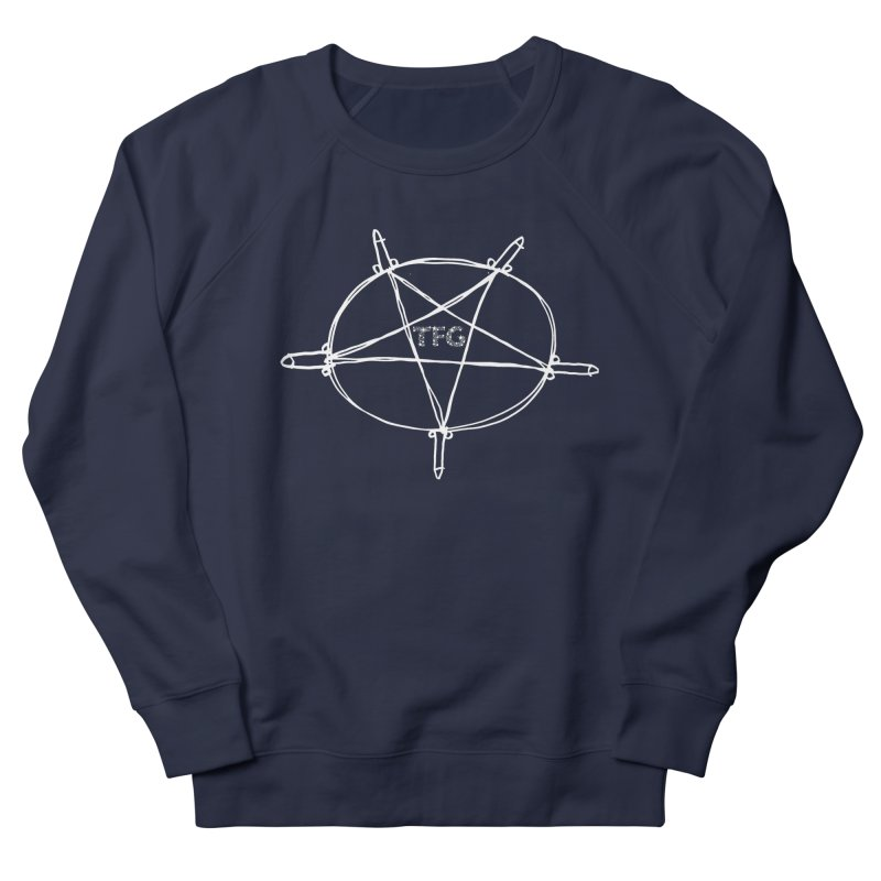 TFG Penis Pentagram White 2 Men's French Terry Sweatshirt by TotallyFuckingGay's Artist Shop