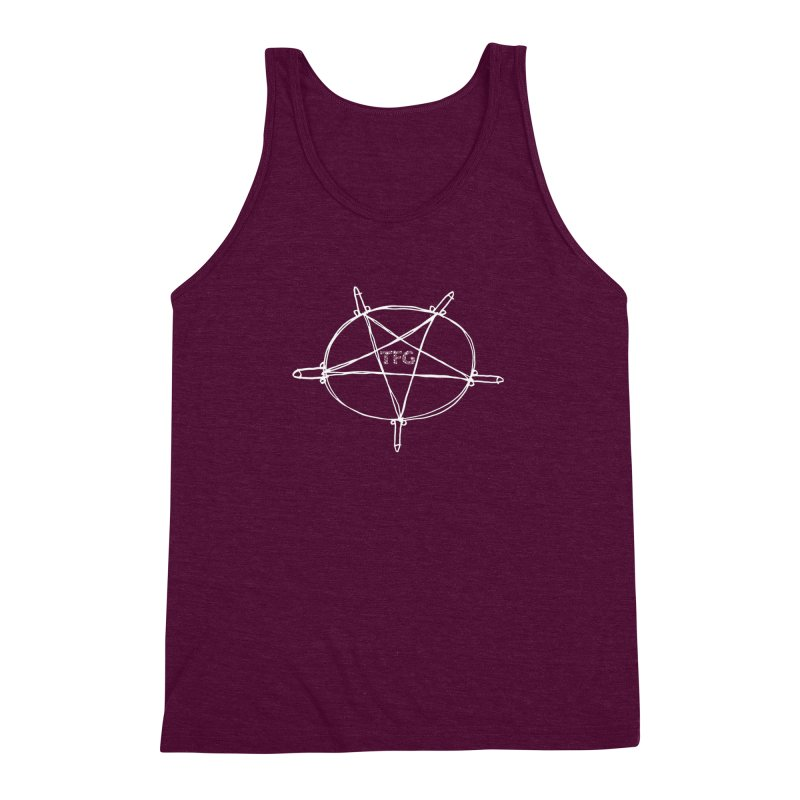 TFG Penis Pentagram White 2 Men's Triblend Tank by TotallyFuckingGay's Artist Shop