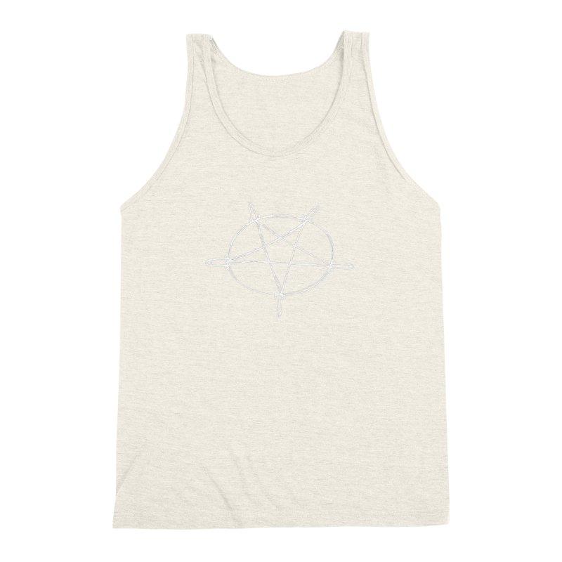 TFG Penis Pentagram White 2 Men's Triblend Tank by TotallyFuckingGay's Artist Shop