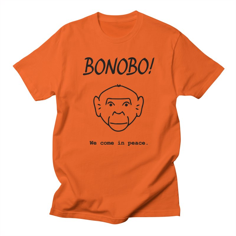 Bonobo! We come in peace. Men's T-Shirt by Tracy Duvall's Shop