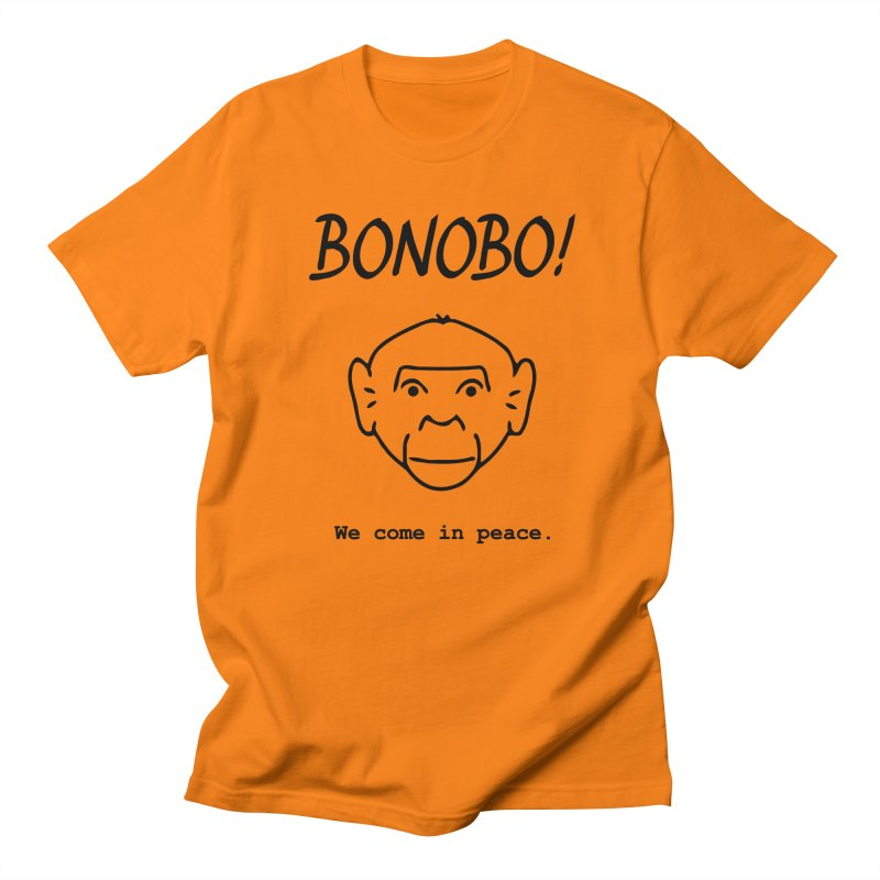 Bonobo! We come in peace. Men's Regular T-Shirt by Tracy Duvall's Shop