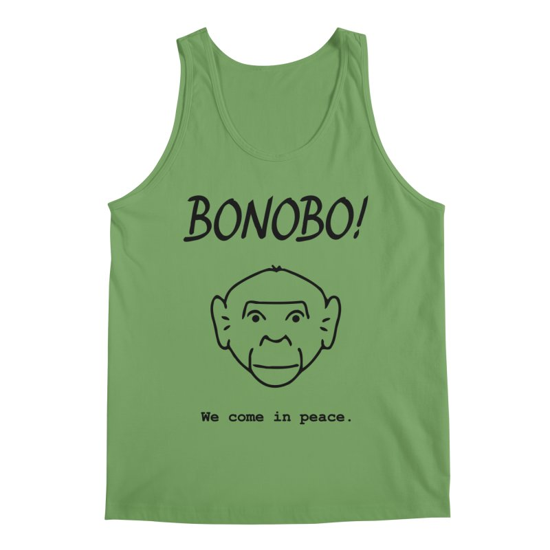 Bonobo! We come in peace. Men's Tank by Tracy Duvall's Shop