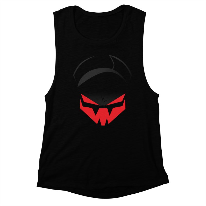 The Grinning Visage of Viral Women's Muscle Tank by The Transypoo Tee Shirt Shop!