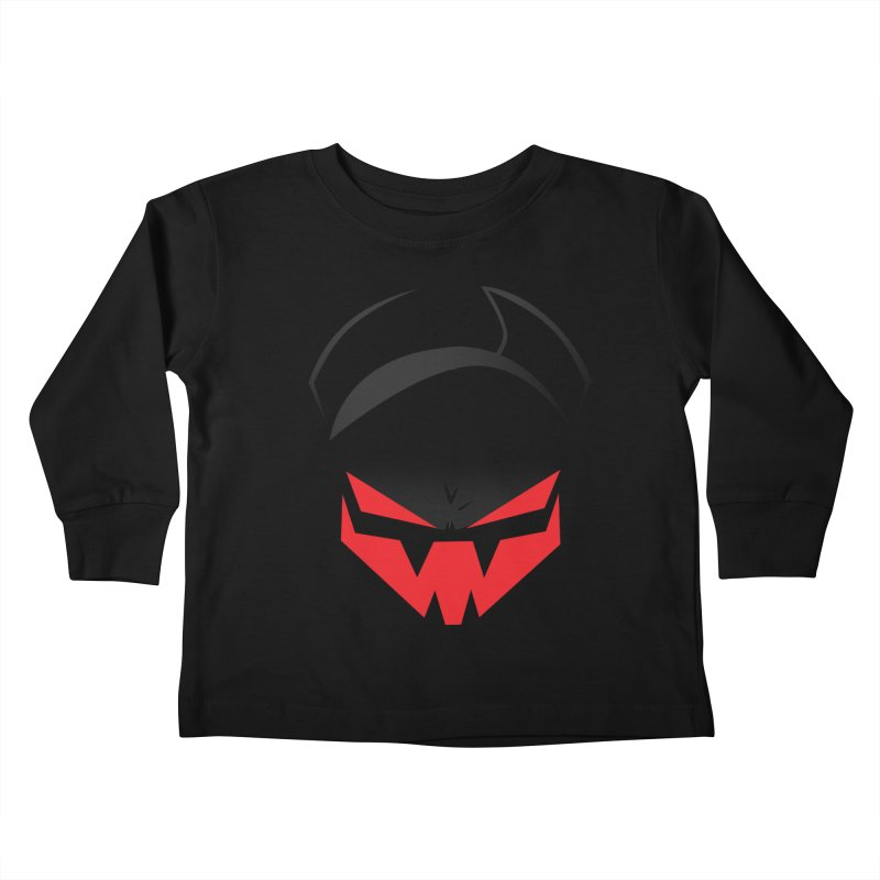 The Grinning Visage of Viral Kids Toddler Longsleeve T-Shirt by The Transypoo Tee Shirt Shop!