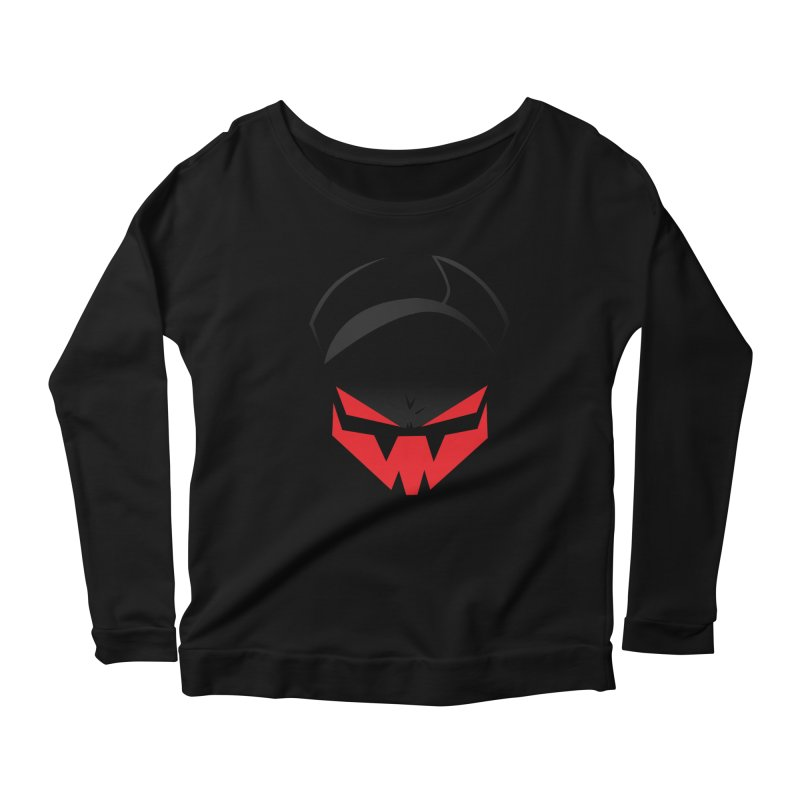 The Grinning Visage of Viral Women's Scoop Neck Longsleeve T-Shirt by The Transypoo Tee Shirt Shop!