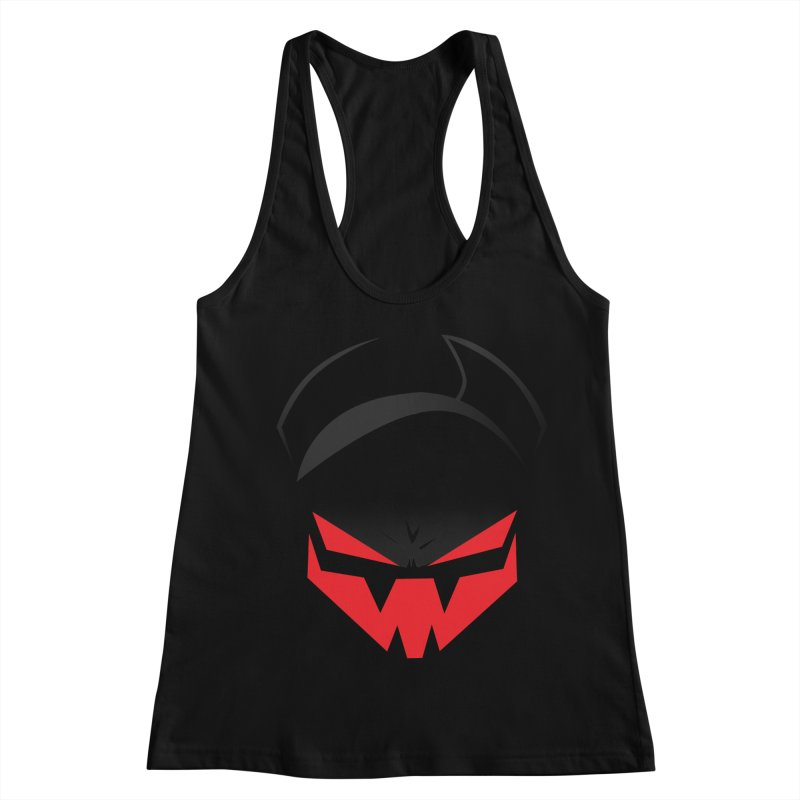 The Grinning Visage of Viral Women's Racerback Tank by The Transypoo Tee Shirt Shop!