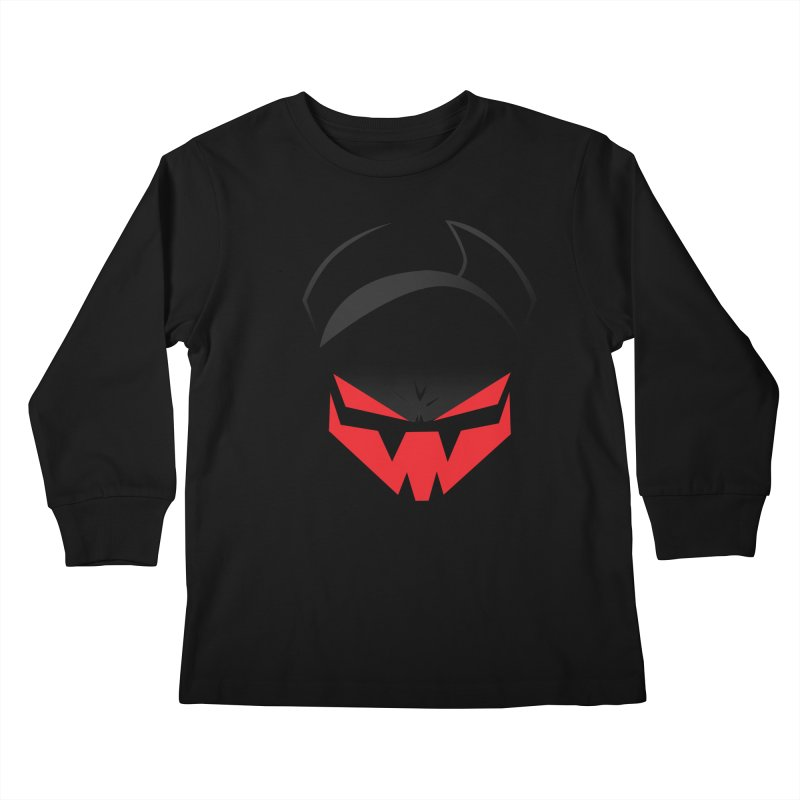 The Grinning Visage of Viral Kids Longsleeve T-Shirt by The Transypoo Tee Shirt Shop!