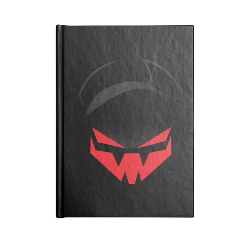 The Grinning Visage of Viral Accessories Notebook by The Transypoo Tee Shirt Shop!