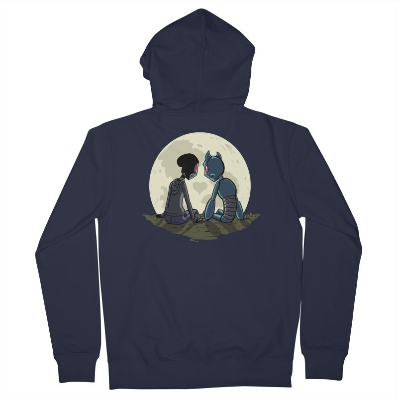 Transypoo + Skel Men's French Terry Zip-Up Hoody by The Transypoo Tee Shirt Shop!