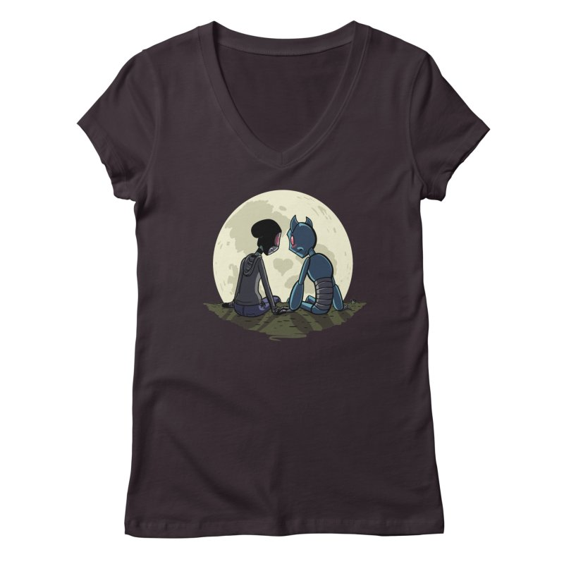Transypoo + Skel Women's Regular V-Neck by The Transypoo Tee Shirt Shop!